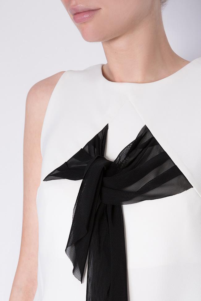 Fellwell bow-embellished crepe blouse Florentina Giol image 3