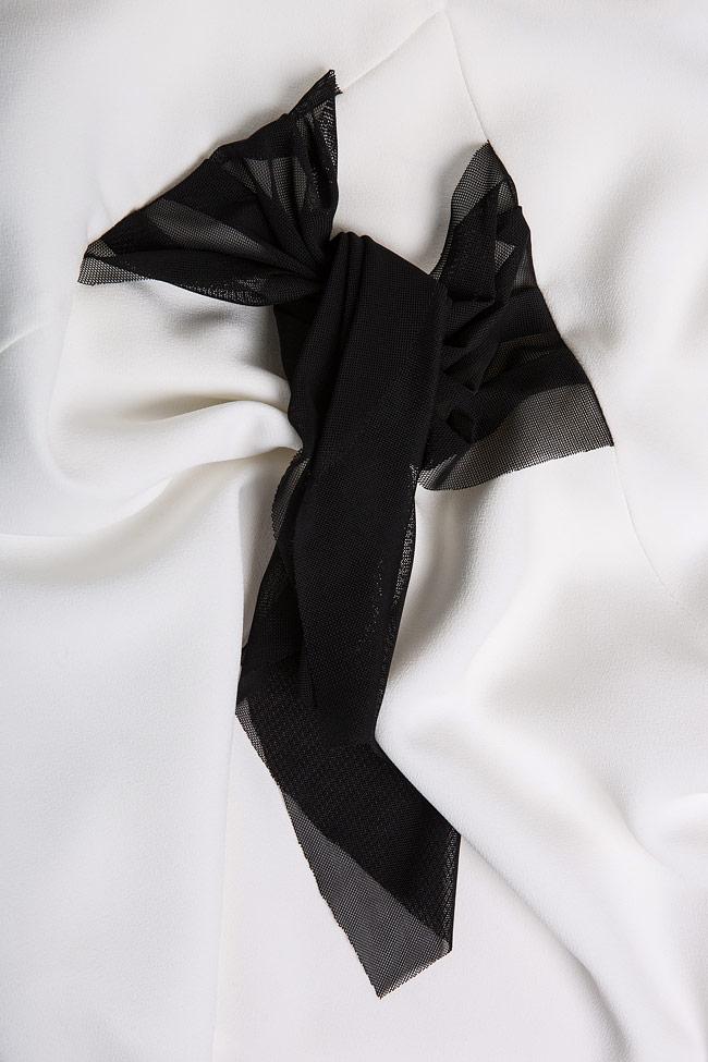 Fellwell bow-embellished crepe blouse Florentina Giol image 4
