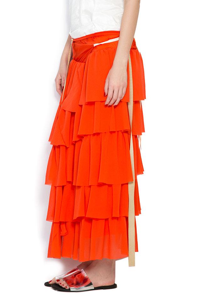 Apron ruffled crepe maxi skirt Studio Cabal image 1