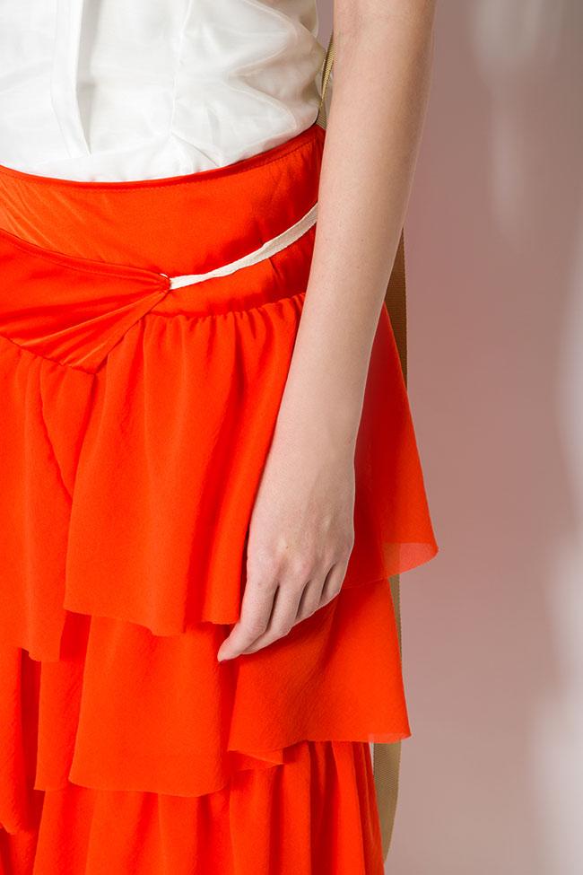 Apron ruffled crepe maxi skirt Studio Cabal image 3