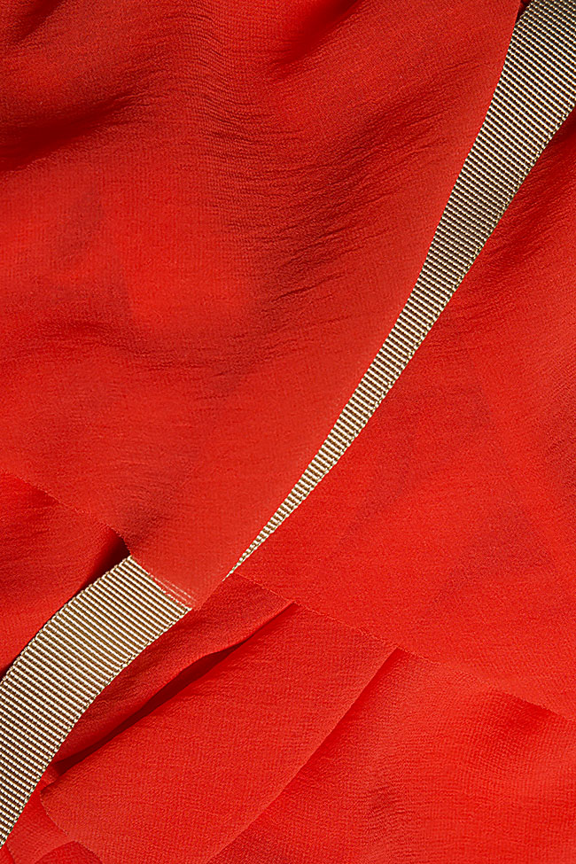 Apron ruffled crepe maxi skirt Studio Cabal image 5