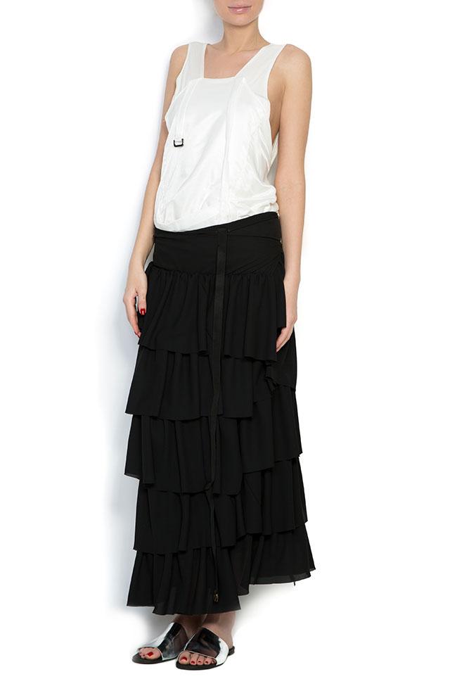 Apron ruffled crepe maxi skirt Studio Cabal image 0