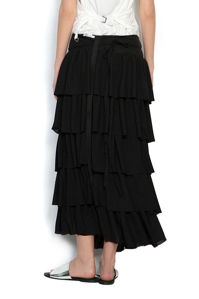 Apron ruffled crepe maxi skirt Studio Cabal image 2