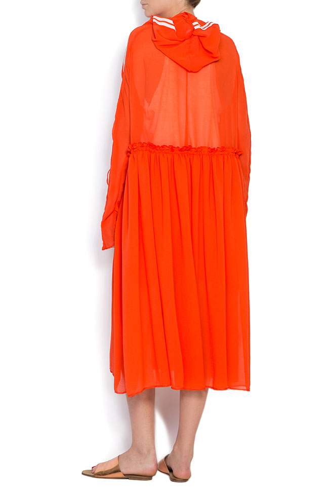 Hooded crepe veil midi dress Studio Cabal image 2