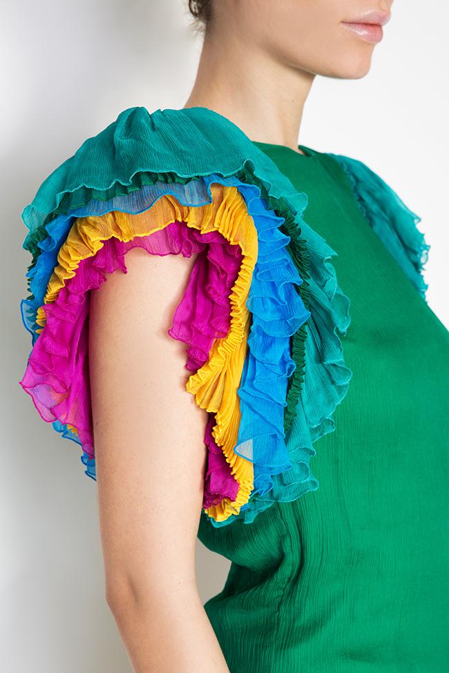 Ruffled silk top Dorin Negrau image 3