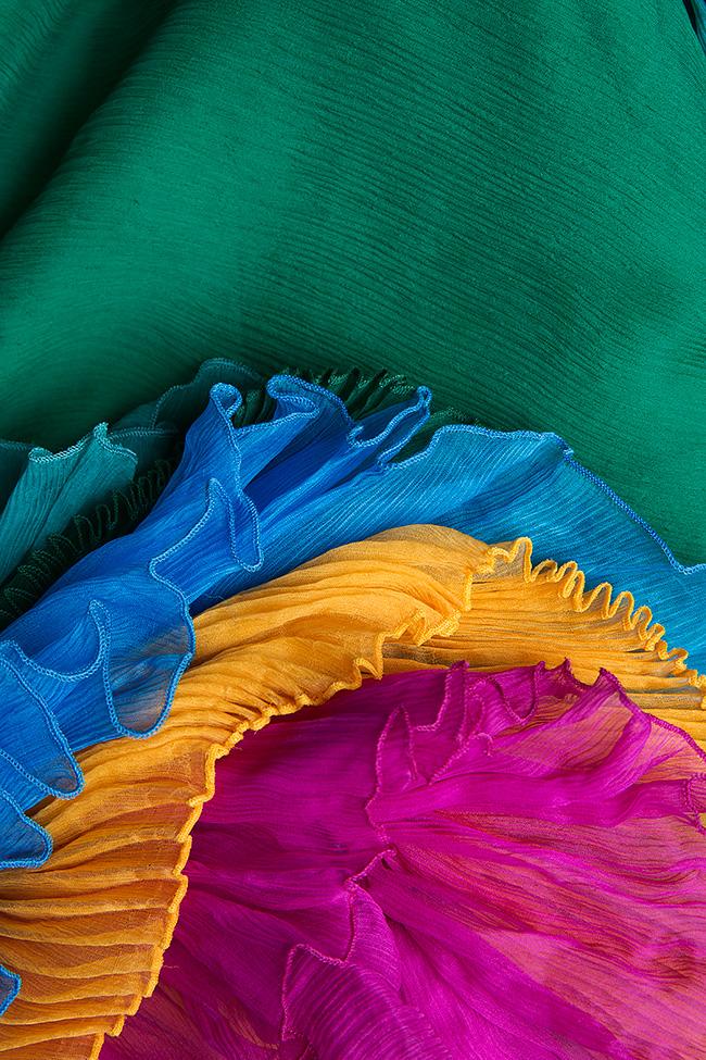 Ruffled silk top Dorin Negrau image 4