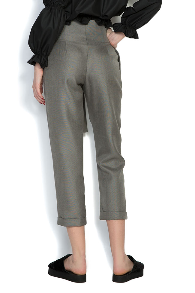 Pantaloni din in cu cordon Cloche imagine 2