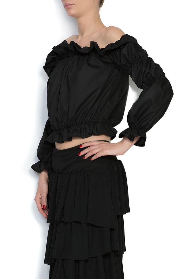 Blouse en popeline de coton les épaules dénudées Cloche image 1