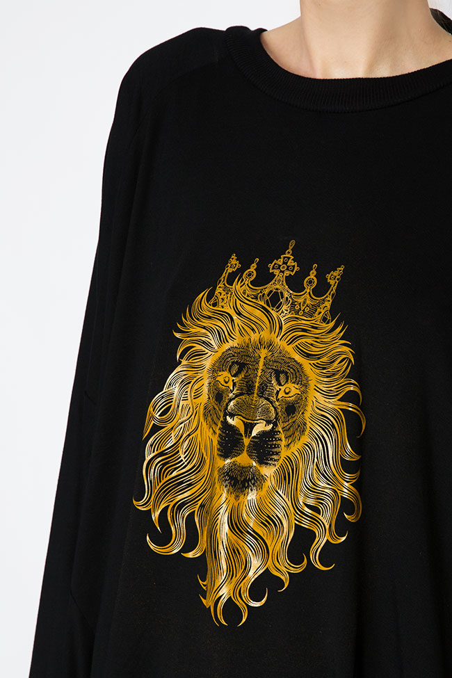 Bluza supradimensionata din amestec de bumbac cu spatele gol OT Studio Cabal imagine 3