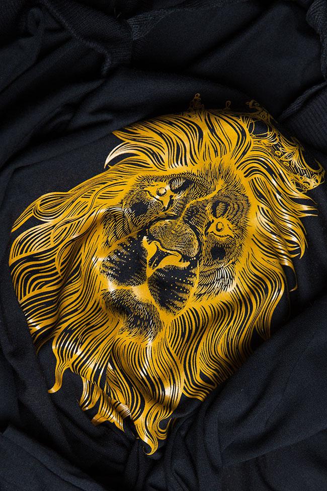 Bluza supradimensionata din amestec de bumbac cu spatele gol OT Studio Cabal imagine 5