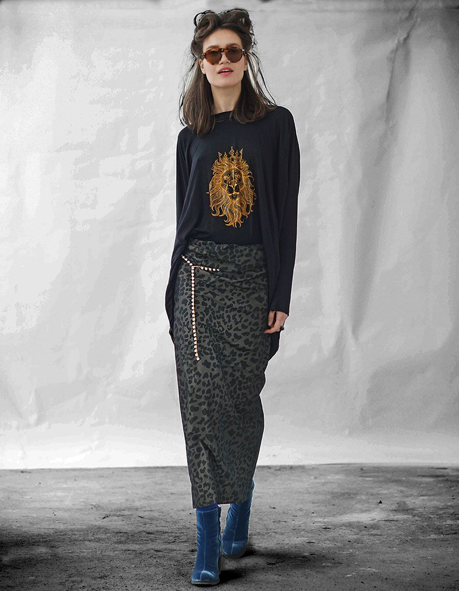 Bluza supradimensionata din amestec de bumbac cu spatele gol OT Studio Cabal imagine 4