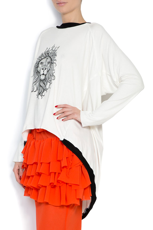 OT open-back printed cotton-blend oversized top Studio Cabal image 1