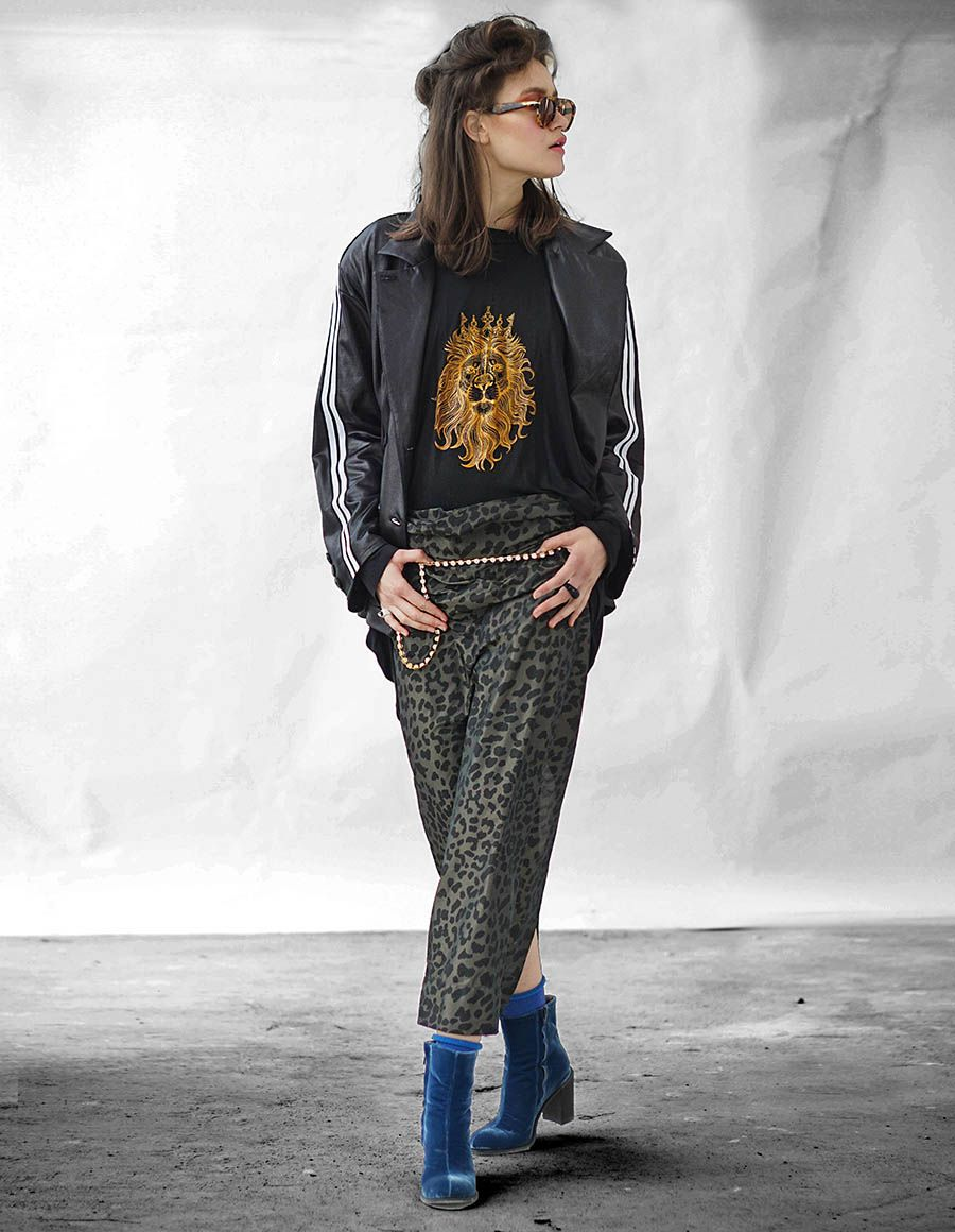 Fusta cu animal print Away Studio Cabal imagine 4