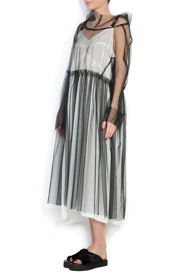 Urban hooded tulle midi dress Studio Cabal image 1