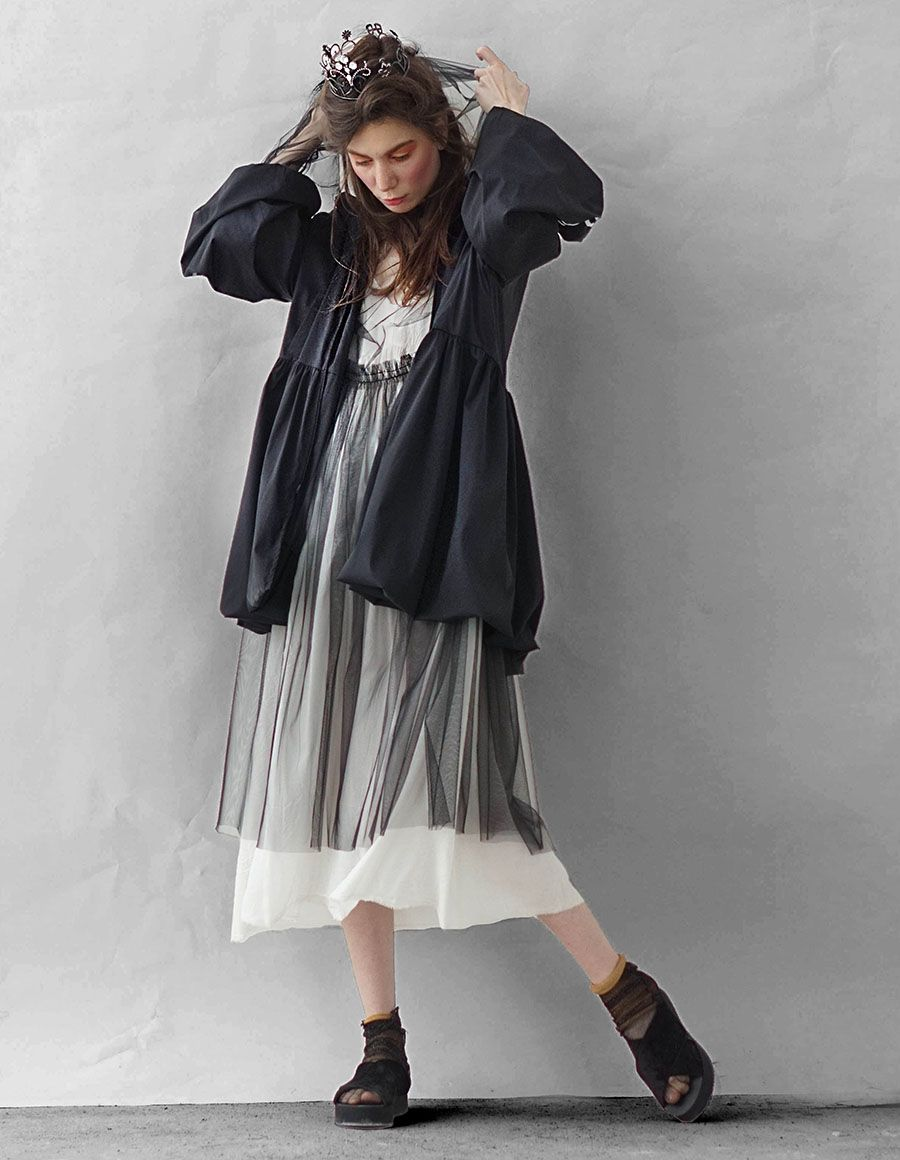 Urban hooded tulle midi dress Studio Cabal image 4