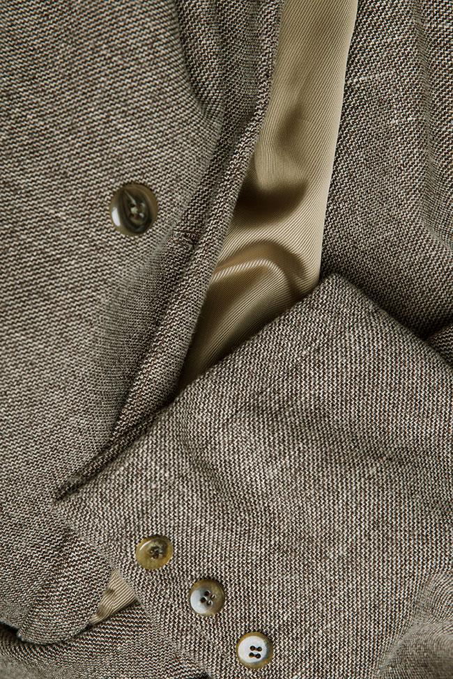 Jacheta supradimensionata din amestec de lana Salt & Pepper Studio Cabal imagine 6