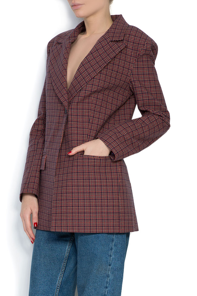 Checked wool-blend blazer Cloche image 1