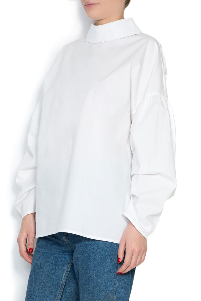Open back cotton poplin shirt Cloche image 1