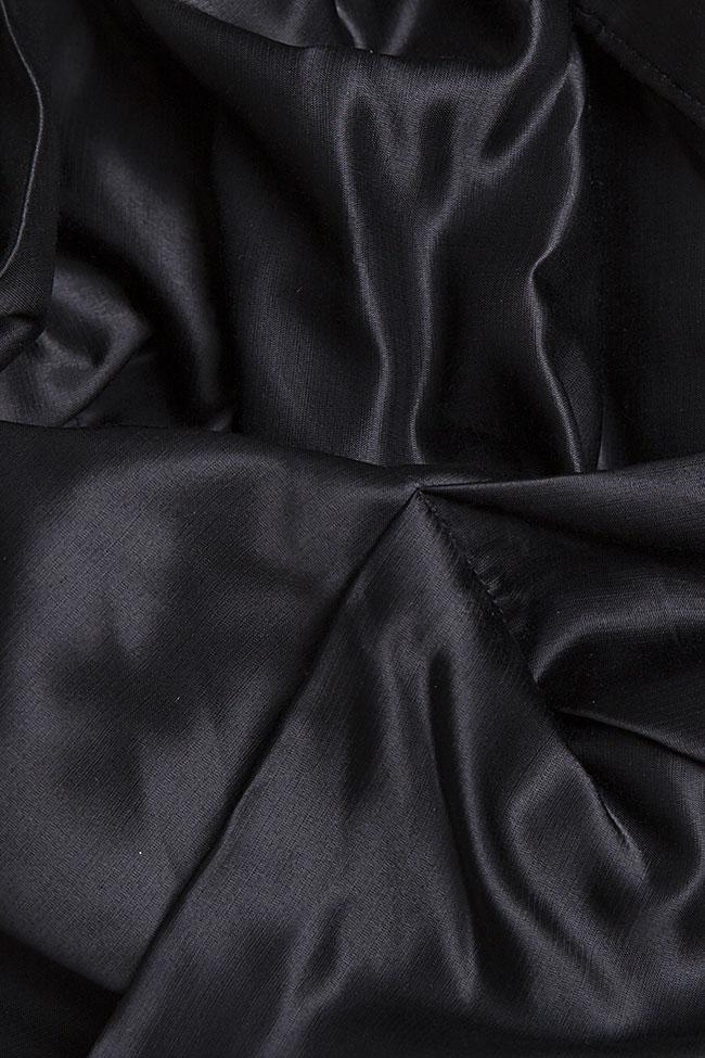 Bluza asimetrica din amestec de bumbac Apron Studio Cabal imagine 6