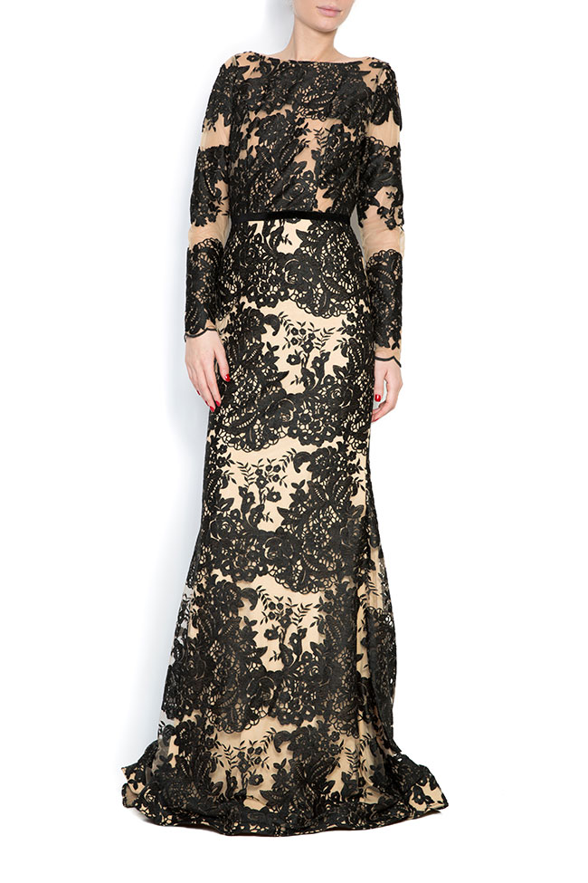 Embroidered tulle lace gown Bien Savvy image 0