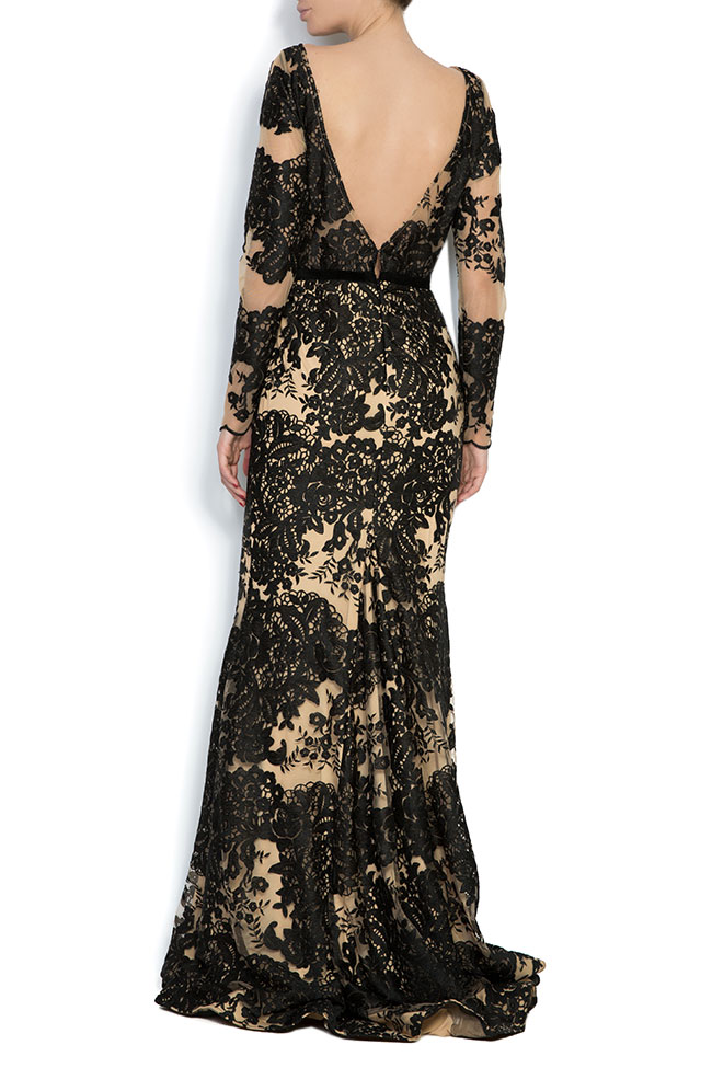 Embroidered tulle lace gown Bien Savvy image 2