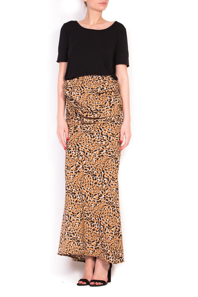 Flower animal-print skirt Studio Cabal image 0