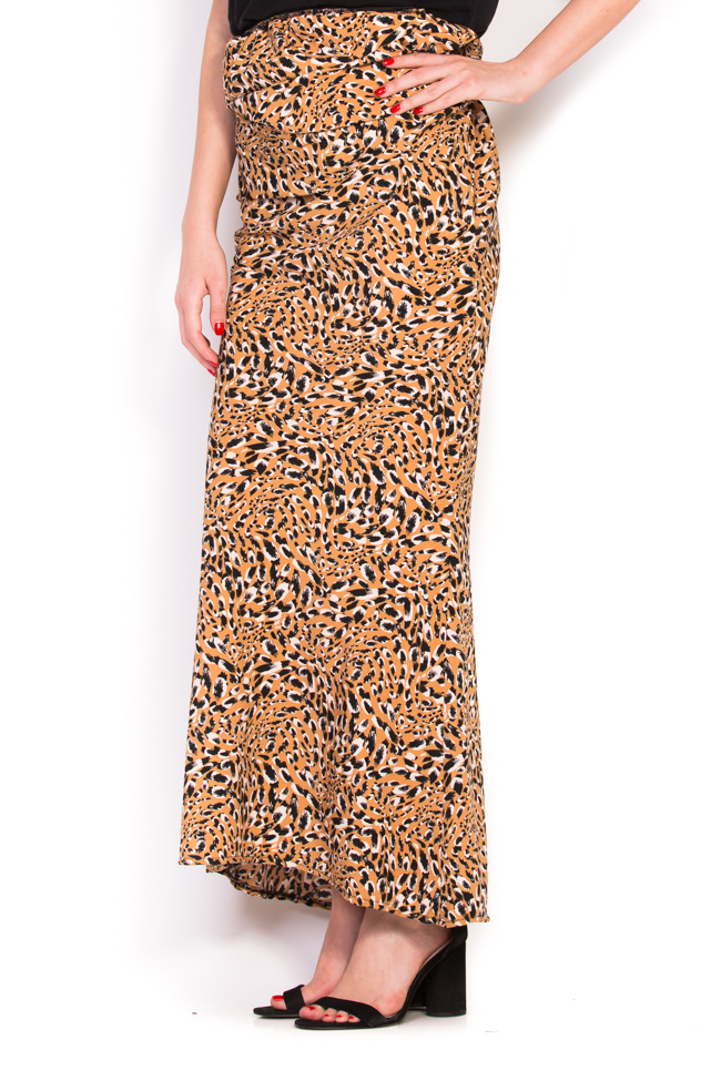Flower animal-print skirt Studio Cabal image 1