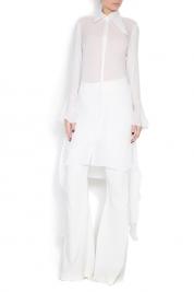Dorin Negrau Oversized silk crepe de chine shirt