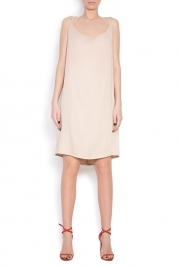 Dorin Negrau Crepe de chine midi dress