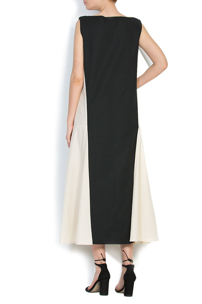 Asymmetric embroidered cotton maxi dress Nicoleta Obis image 2