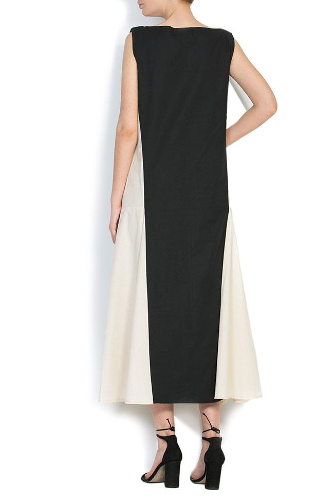 Robe asymétrique en coton, brodée à la main Nicoleta Obis image 2