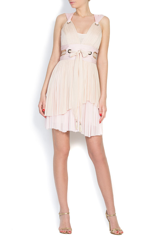 Asymmetric silk tulle mini dress Elena Perseil image 0
