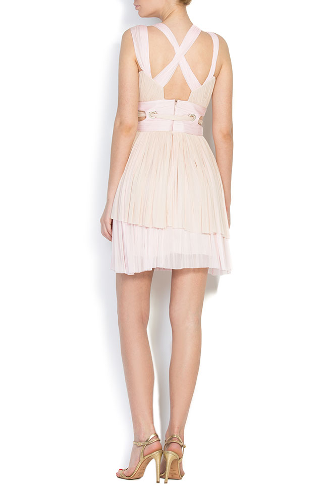 Asymmetric silk tulle mini dress Elena Perseil image 2