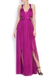 Elena Perseil Silk tulle maxi dress