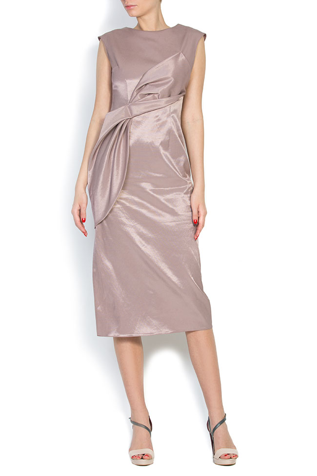 Satin cotton midi dress LRM image 0