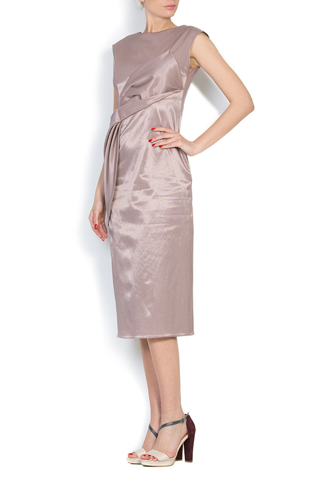 Satin cotton midi dress LRM image 1