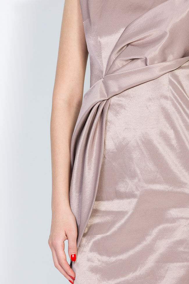 Satin cotton midi dress DALB by Mihaela Dulgheru image 3