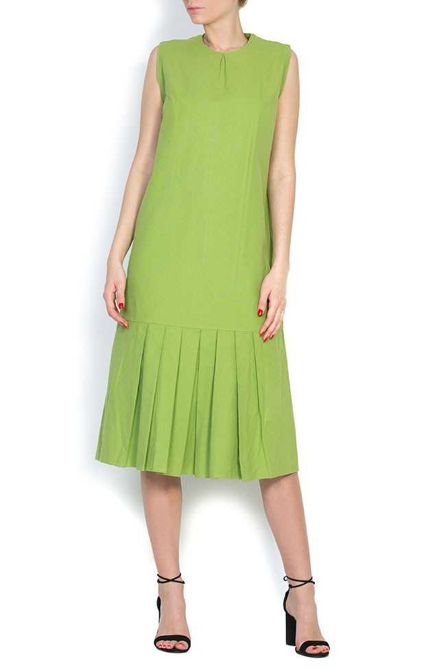 Pleated cotton midi dress Nicoleta Obis image 0