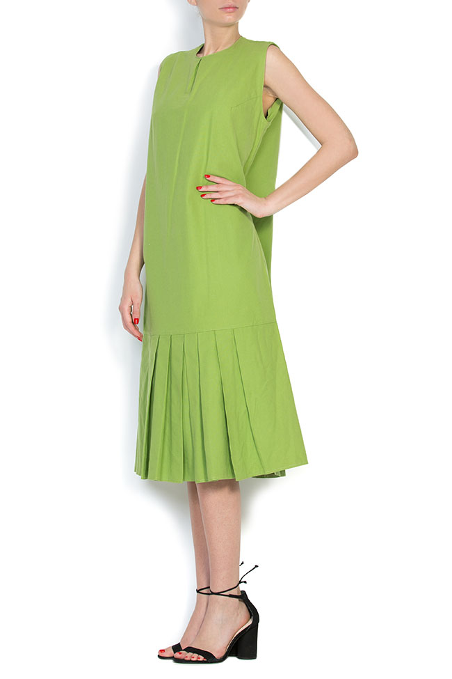 Pleated cotton midi dress Nicoleta Obis image 1