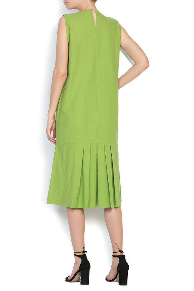 Pleated cotton midi dress Nicoleta Obis image 2