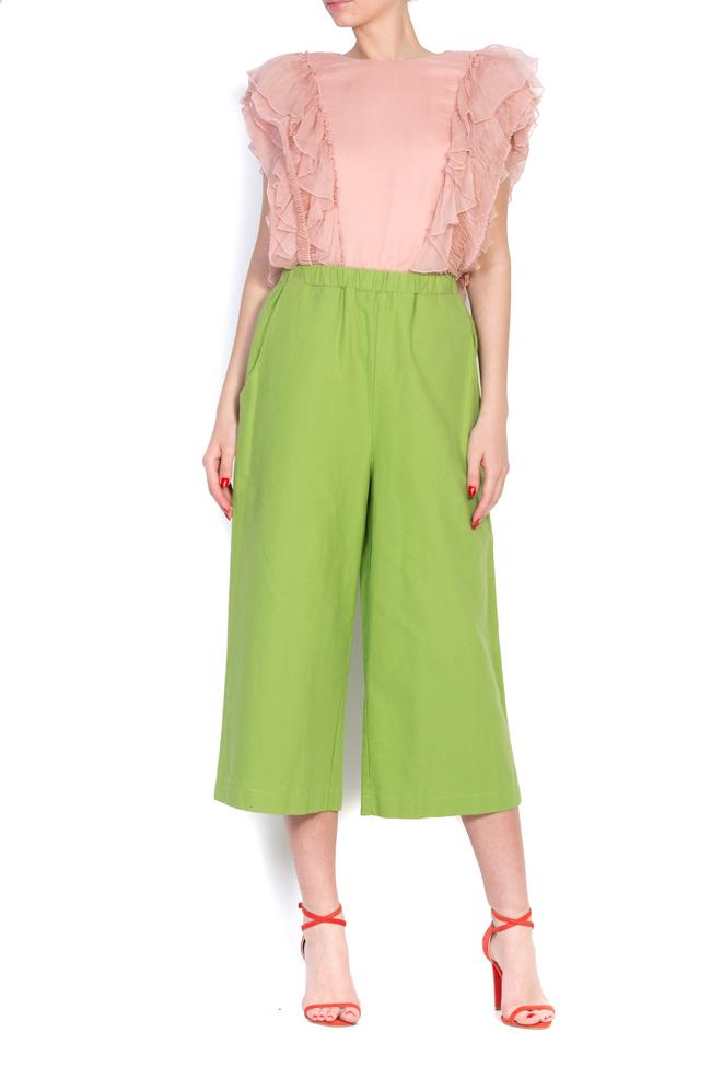 Pantaloni din panza de bumbac Nicoleta Obis imagine 0
