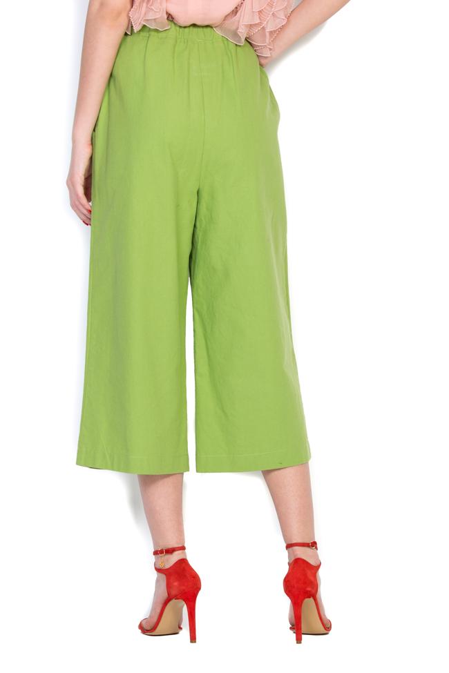Pantaloni din panza de bumbac Nicoleta Obis imagine 2