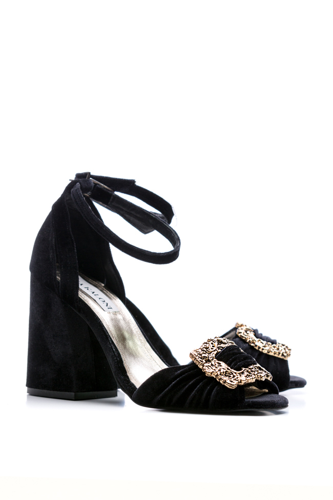 Sandale din catifea  Ana Kaloni imagine 1