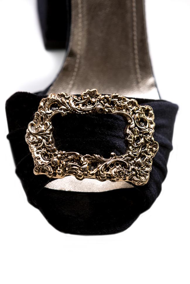 Embellished velvet sandals Ana Kaloni image 3