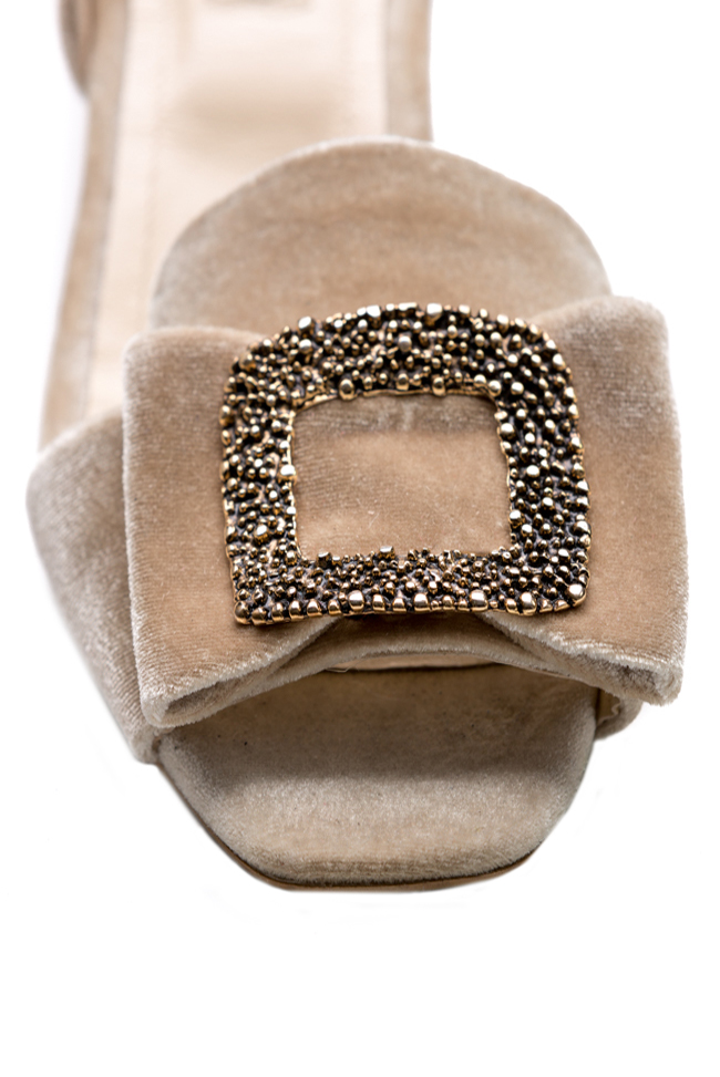 Embellished suede and metallic leather sandals Ana Kaloni image 3
