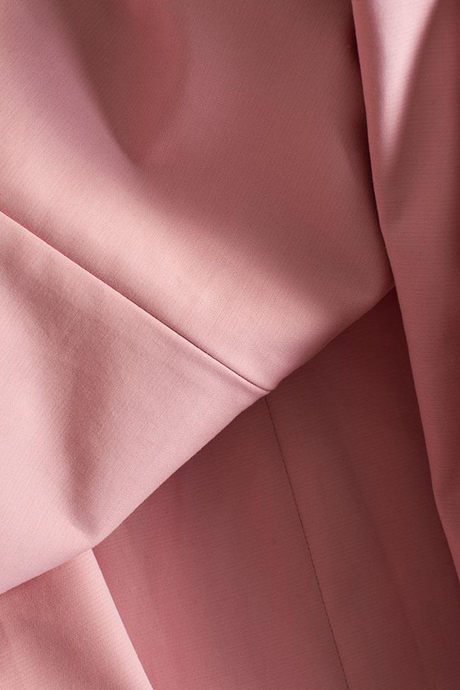 Cold-shoulder coton poplin mini dress BLUZAT image 4