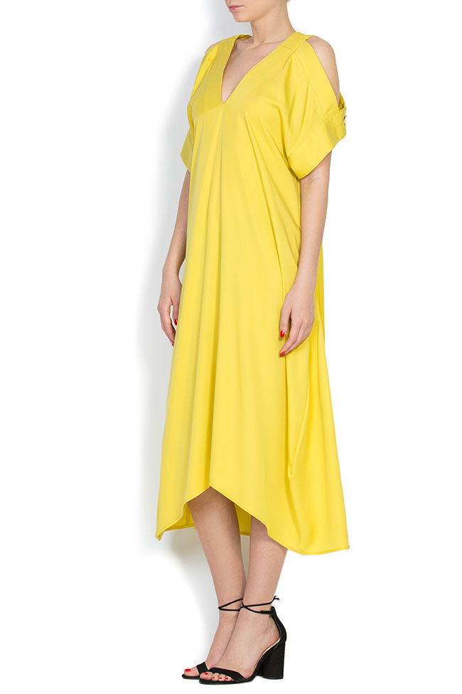 Cold-shoulder asymmetric dress Bluzat image 1