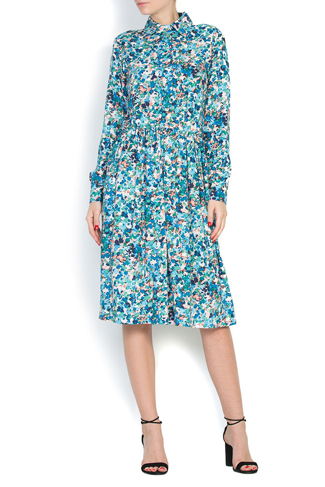 Floral-print jersey midi dress Bluzat image 0