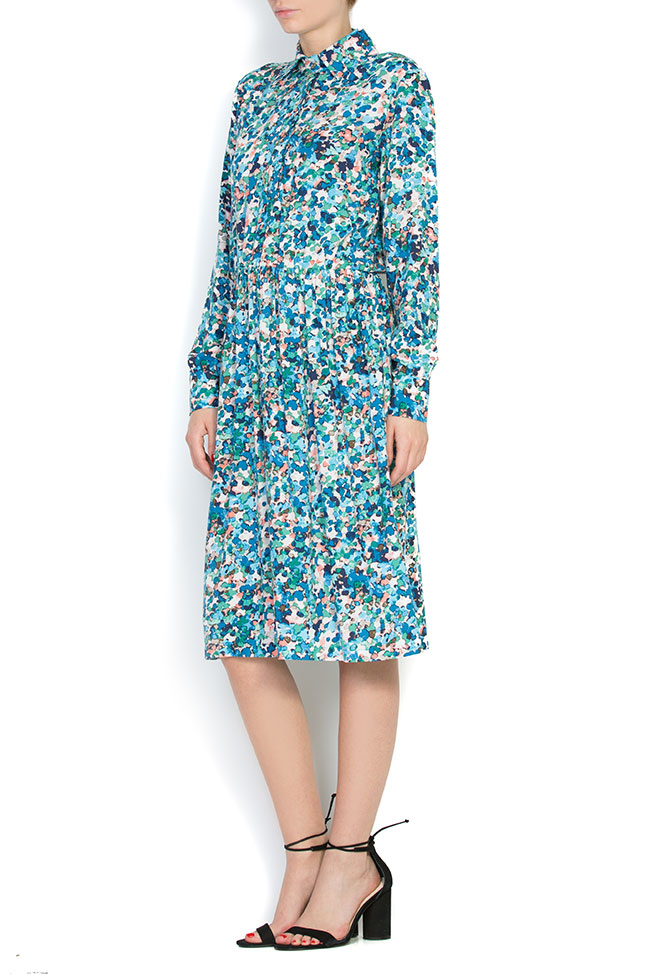 Floral-print jersey midi dress Bluzat image 1