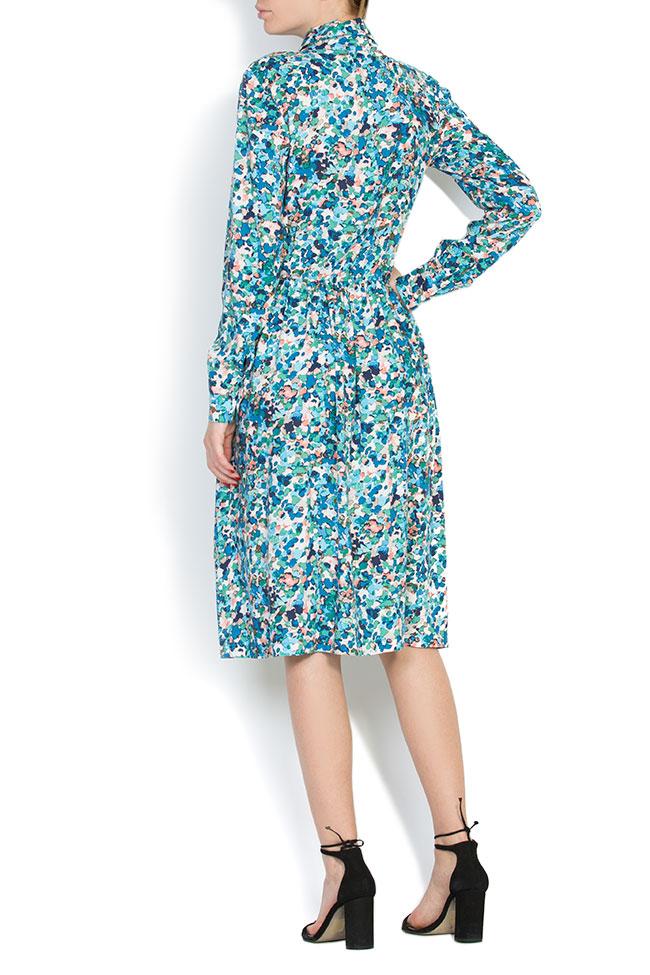 Floral-print jersey midi dress Bluzat image 2